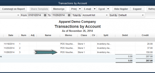 Unbillled Purchases in QBPOS