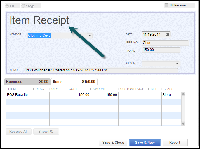Reason 4 You Recorded the Bill Twice in QuickBooks The – Receiving Receipt